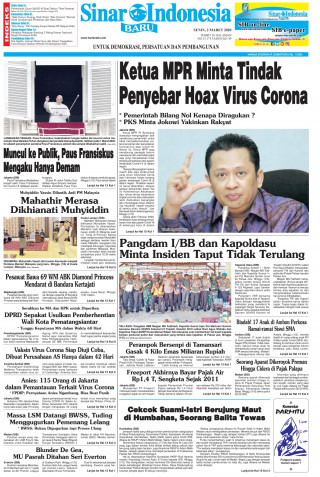 Ketua MPR Minta Tindak Penyebar Hoax Virus Corona