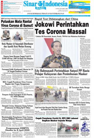 Jokowi Perintahkan Tes Corona Massal