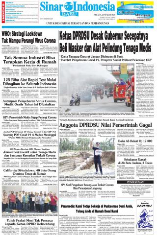 Ketua DPRDSU Desak Gubernur Secepatnya Beli Masker dan Alat Pelindung Tenaga Medis