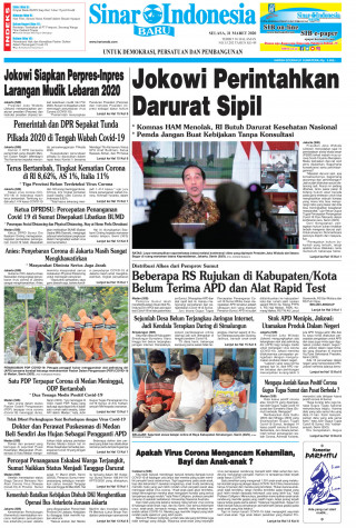 Jokowi Perintahkan Darurat Sipil