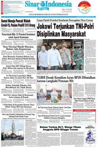 Jokowi Terjunkan TNI-Polri Disiplinkan Masyarakat