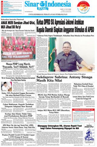 Ketua DPRD SU Apresiasi Jokowi Arahkan Kepala Daerah Siapkan Anggaran Stimulus di APBD