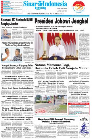 Presiden Jokowi Jengkel
