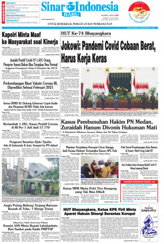 Jokowi: Pandemi Covid Cobaan Berat, Harus Kerja Keras