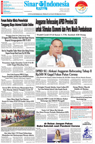 Anggaran Refocusing APBD Provinsi SU untuk Stimulus Ekonomi dan Pers Masih Pembahasan