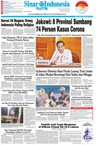 Jokowi: 8 Provinsi Sumbang 74 Persen Kasus Corona