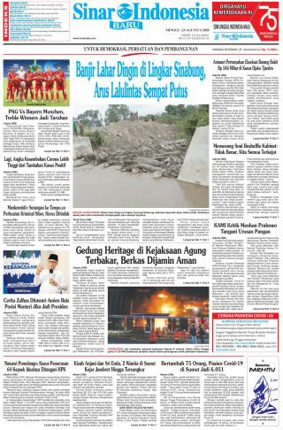 Banjir Lahar Dingin di Lingkar Sinabung, Arus Lalulintas Sempat Putus