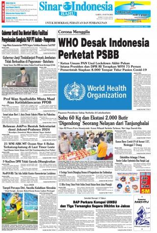 WHO Desak Indonesia Perketat PSBB