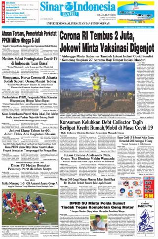 Corona RI Tembus 2 Juta, Jokowi Minta Vaksinasi Digenjot