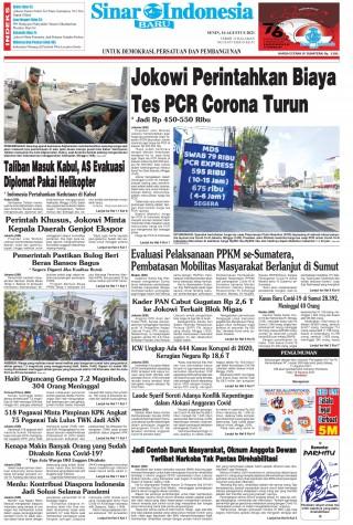 Jokowi Perintahkan Biaya Tes PCR Corona Turun