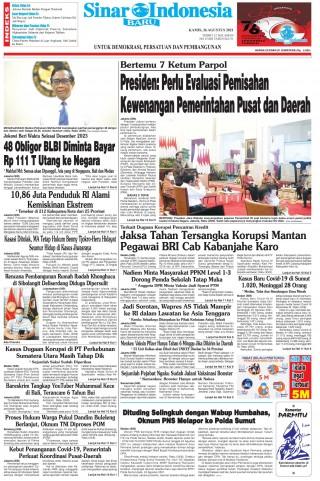 Presiden: Perlu Evaluasi Pemisahan Kewenangan Pemerintahan Pusat dan Daerah